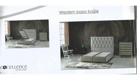 160*200 BAZA VE BAŞLIK SET WESTERN